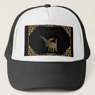Taurus golden sign trucker hat