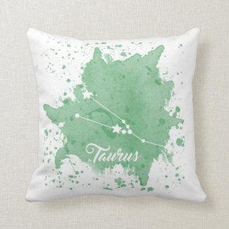 Taurus Green Pillow