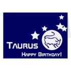 Taurus, Happy Birthday!-Customise Card