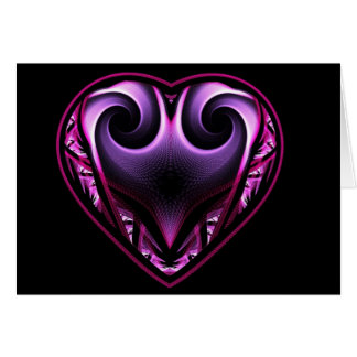 Taurus Heart Fractal Greetings Cards
