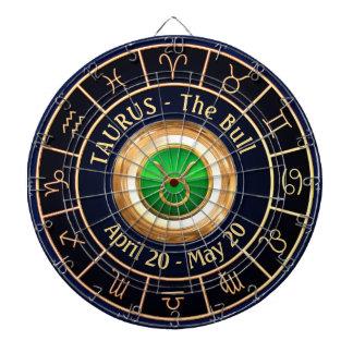 Taurus Horoscope Symbol Dart Board
