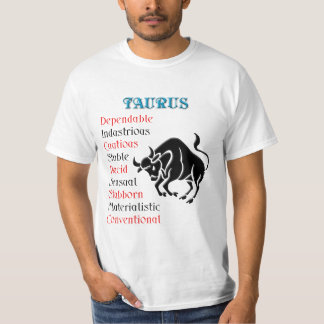 Taurus Horoscope Zodiac Sign T-Shirt
