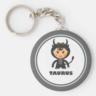 Taurus is my Zodiac sign Basic Round Button Key Ring