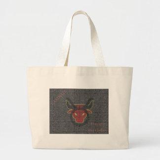 Taurus jigsaw jumbo tote bag