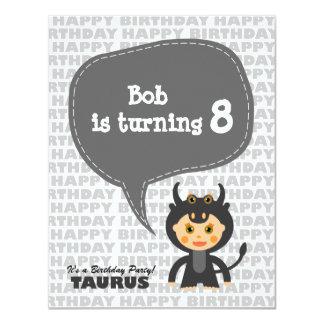 Taurus Kids Party Invitation