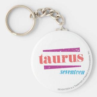Taurus LtPink Basic Round Button Key Ring