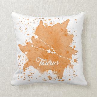 Taurus Orange Pillow