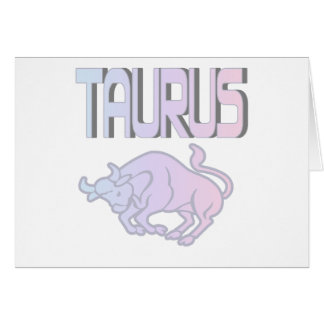 Taurus Pastels Greeting Card