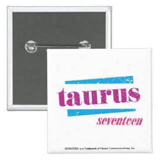 Taurus Purple 15 Cm Square Badge