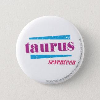 Taurus Purple 6 Cm Round Badge