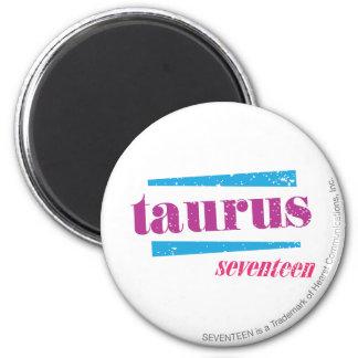 Taurus Purple 6 Cm Round Magnet