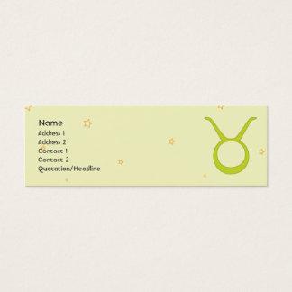 Taurus - Skinny Mini Business Card