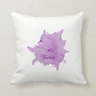 Taurus Star Sign Purple Pillow