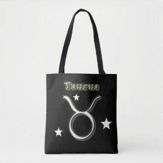Taurus symbol tote bag