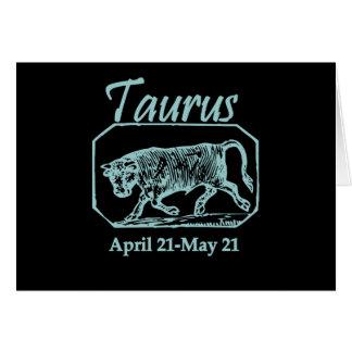 Taurus Teal Greeting Card