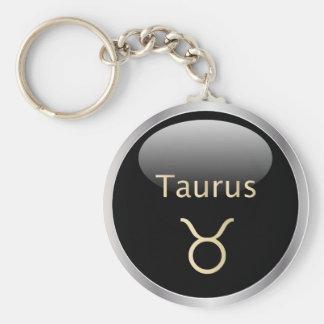Taurus the bull astrology star sign keychain