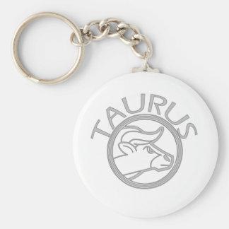 Taurus the Bull Basic Round Button Key Ring
