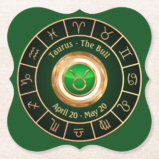 Taurus - The Bull Horoscope Symbol Paper Coaster