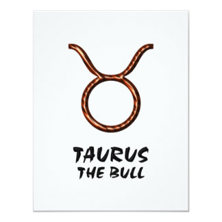 Taurus the bull invitation