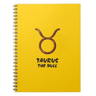 Taurus the bull notebook