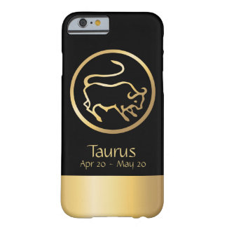 Taurus the Bull Zodiac Black Gold Barely There iPhone 6 Case