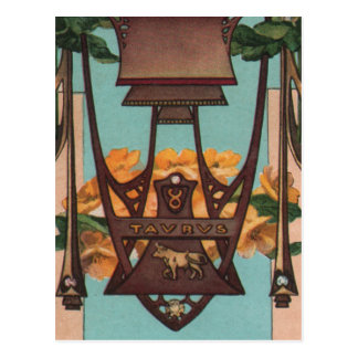 Taurus the Bull - Zodiac Postcard