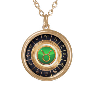 Taurus - The Bull's Astrological Symbol Gold Plated Necklace