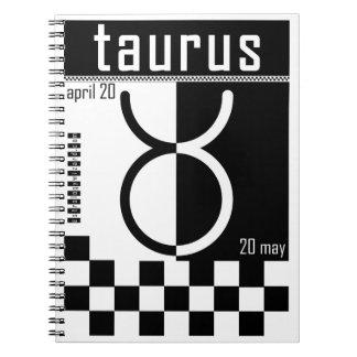 Taurus Two-Tone Zodiac Notebook. Spiral Notebook