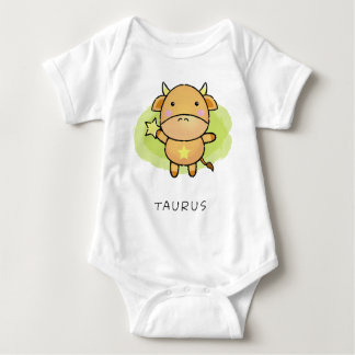 taurus Vector of horoscope zodiac signs Baby Bodysuit
