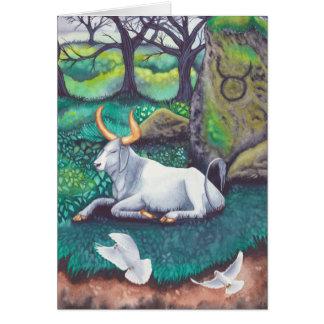 Taurus Watercolor Greeting Card