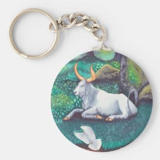 Taurus Watercolor Key Ring