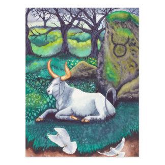 Taurus Watercolor Postcard