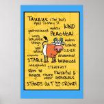 Taurus wordcloud poster