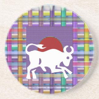 TAURUS Zodiac Astrology Jyotish Symbols Coasters