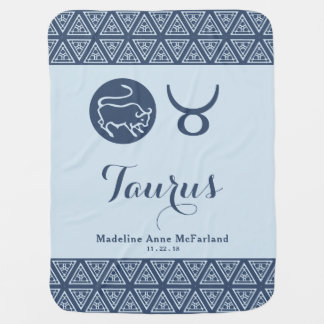 Taurus Zodiac Baby Blanket