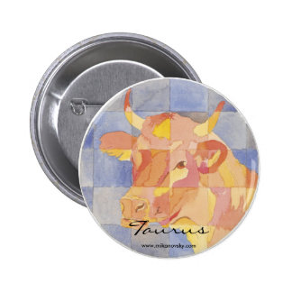 Taurus Zodiac Pinback Button