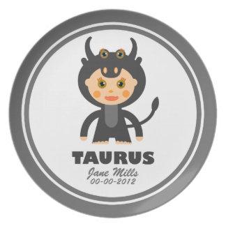Taurus Zodiac Birthday Plate