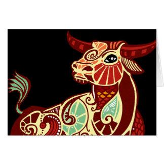 Taurus Zodiac - Bull Greeting Card