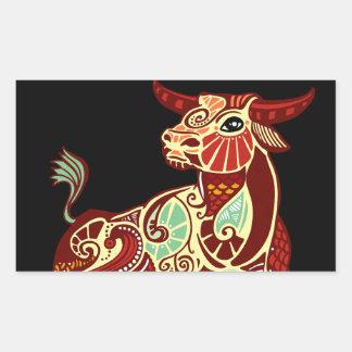 Taurus Zodiac - bull Rectangle Stickers