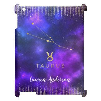 Taurus Zodiac Custom Name iPad Case