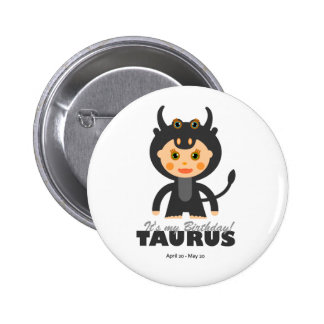 Taurus Zodiac for Kids 6 Cm Round Badge