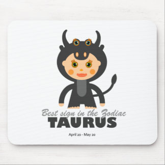 Taurus Zodiac for Kids Mouse Pad