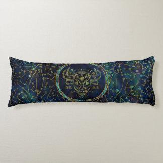 Taurus Zodiac Gold Abalone on Constellation Body Cushion