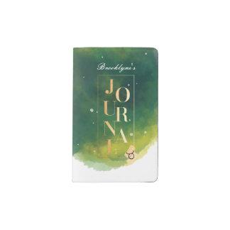 Taurus Zodiac Green & Gold Watercolour Journal