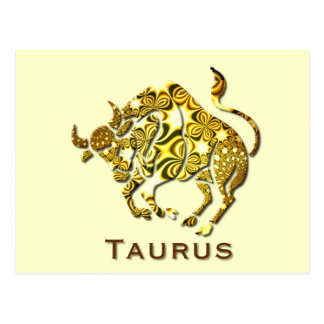 Taurus Zodiac Poscard Postcard