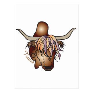 Taurus Zodiac Postcard