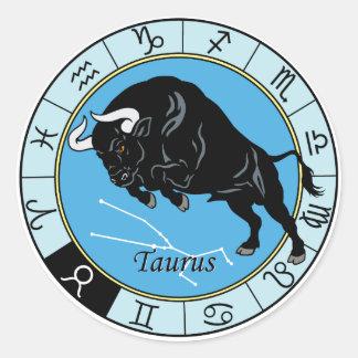 taurus zodiac round sticker