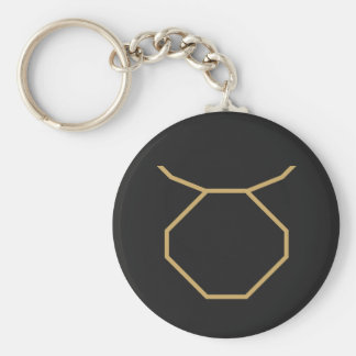 Taurus Zodiac Sign Basic Basic Round Button Key Ring