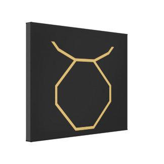 Taurus Zodiac Sign Basic Canvas Print