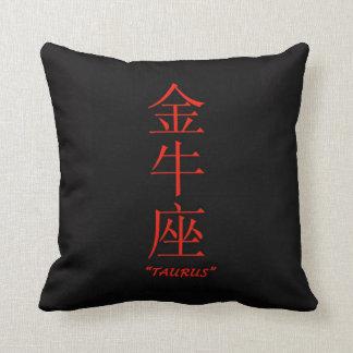 """Taurus"" zodiac sign Chinese translation Cushion"